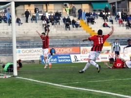 Il gol di Raicevic (foto Alcide Lucca)