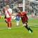 L'esultanza di Lo Sicco dopo il gol del vantaggio (foto Alcide Lucca)